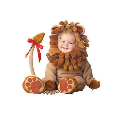 your baby will have a roaring good time in this lil leo infant costume complete with a plush bodysuit hood tail and slip on booties this halloween