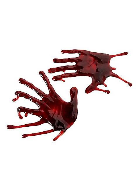 Spirit Halloween Wall Decor : Bloody hand drips decorations spirithalloween