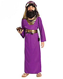 Kids Purple Wiseman Costume