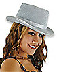 Silver Sparkle Top Hat