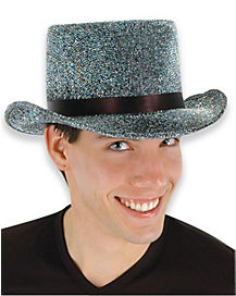 Black Sparkle Top Hat