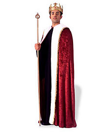 Adult Burgundy Kings Robe Costume