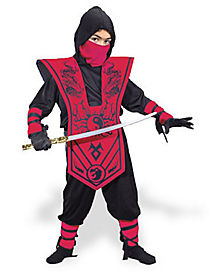 Red Chest Ninja Child Costume