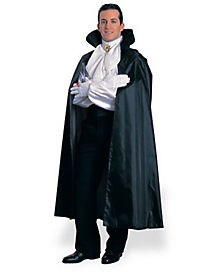 56 in Black Taffeta Vampire Cape