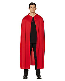 Red Hooded Devil Adult Cape