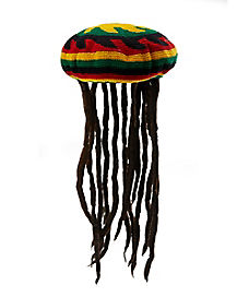 Rasta Dreadlocks Hat