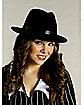 Velvet Black Pimp Hat