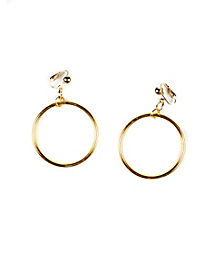 Gold Clip-on Earrings