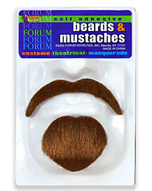 Self Adhesive Beard and Brown Mustache