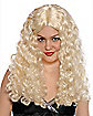 Curly Blonde Adult Wig