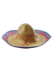 Embroidered Straw Sombrero Hat
