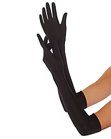 Long Black Adult Gloves