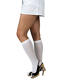 Adult White Knee Highs