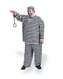 Jailbird Convict Adult Mens Plus Size Costume