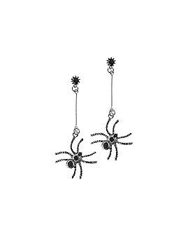 Black Spider Drop Earrings