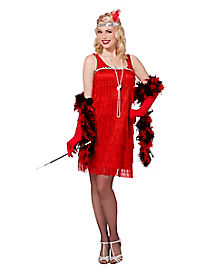 Adult Red Flapper Costume