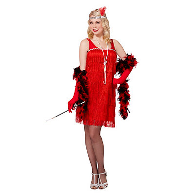 Vintage Inspired Halloween Costumes Adult Red Flapper Costume $29.99 AT vintagedancer.com