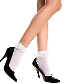Socks With White Ruffles