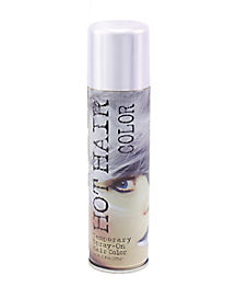 White Metallic Hairspray