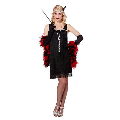 Vintage Inspired Halloween Costumes Adult Black Flapper Costume $29.99 AT vintagedancer.com