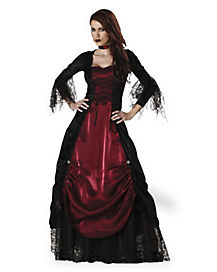 Adult Gothic Vampiress Costume - Theatrical