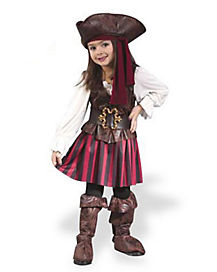 High Seas Buccaneer Girl Toddler Pirate Costume