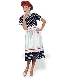 I Love Lucy Polka Dot Dress Adult Womens Costume