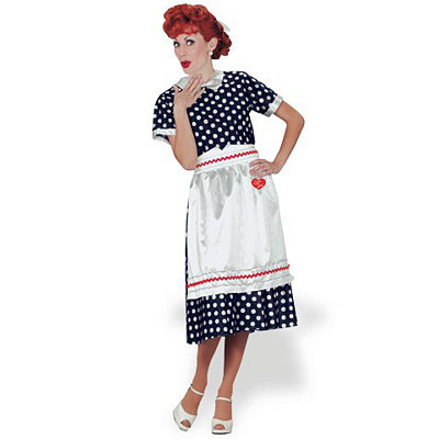 Adult Lucy Polka Dot Dress Costume - I Love Lucy