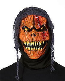 Hooded Pumpkin Monster Mask