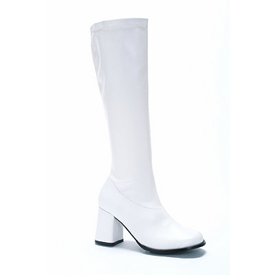 Vintage Inspired Halloween Costumes White Go Go Boots $34.99 AT vintagedancer.com