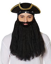 Long Black Beard with Mustache