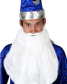 Long White Beard and Mustache