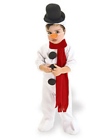 Toddler One Piece Snowman Costume