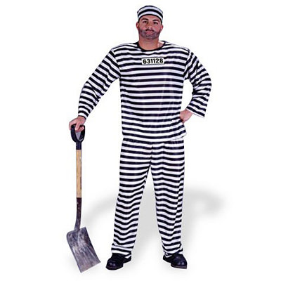 Jailbird Convict Adult Costume $21.99 AT vintagedancer.com