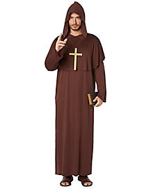 Brown Monk Adult Mens Robe