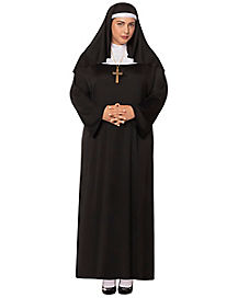 Nun Adult Womens Plus Size Costume