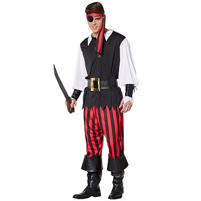 Cut Throat Pirate Adult Mens Costume