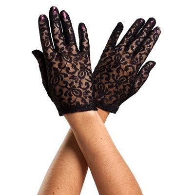 Black Lace Gloves $6.99 AT vintagedancer.com