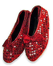 Red Sequin Adult Shoe Covers