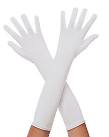 Kids Long White Gloves