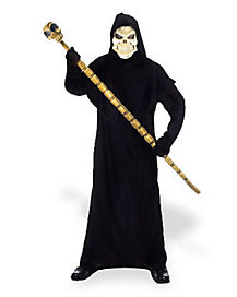 Hooded Black Adult Robe