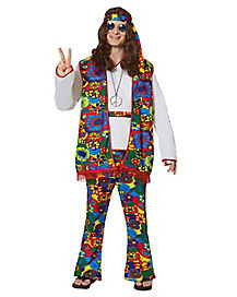 Adult Hippy Dippy Man Hippie Costume