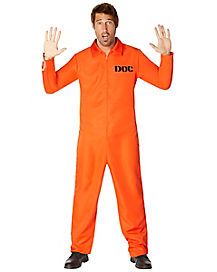 Adult Department of Corrections Prisoner One Piece Costume