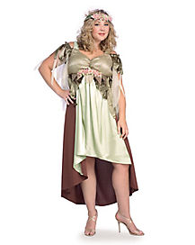 Adult Short Mother Nature Plus Size Costume
