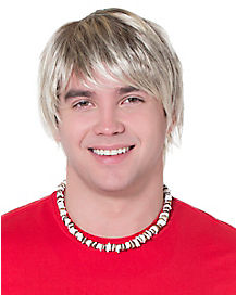 Surfer Adult Blonde Wig