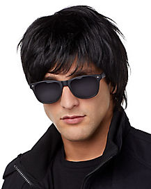 Surfer Adult Black Wig