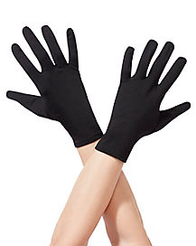 Short Black Gloves