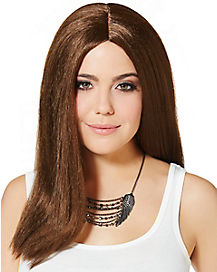 Long Straight Brown Adult Wig