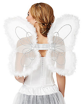 White Marabou Wings