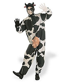 Adult Comical Cow One Piece Costume
